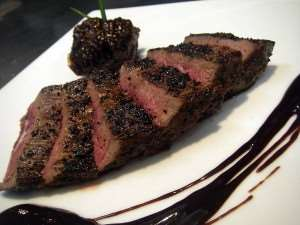 Sliced Kangaroo Meat on a Plate