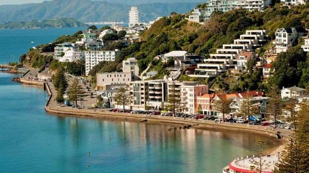 View of Wellington Harbour on New Zealand's North Island