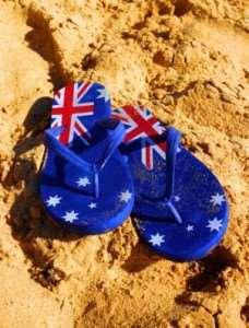 Australian-flag-flip-flops | Tours of Australia