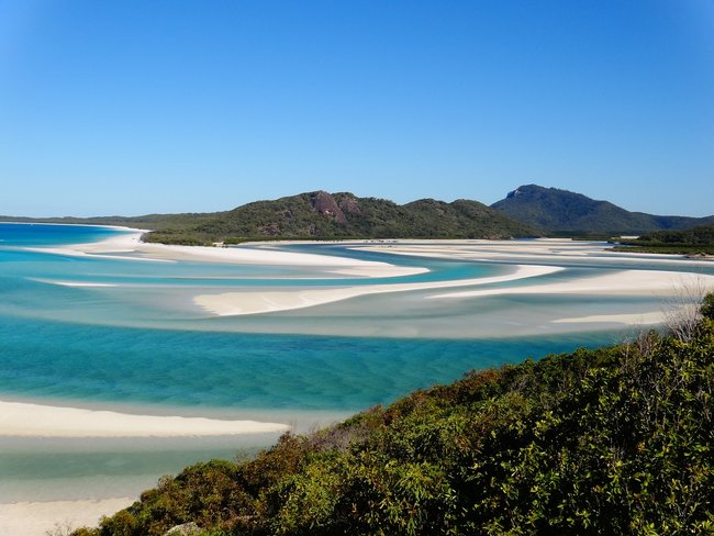 white haven beach view whitsunday islands Australia