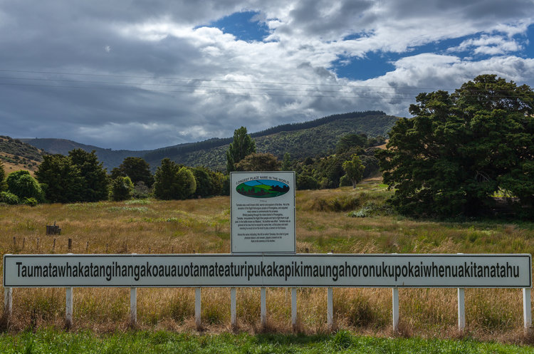 Longest place name sign Hawkes Bay New Zealand