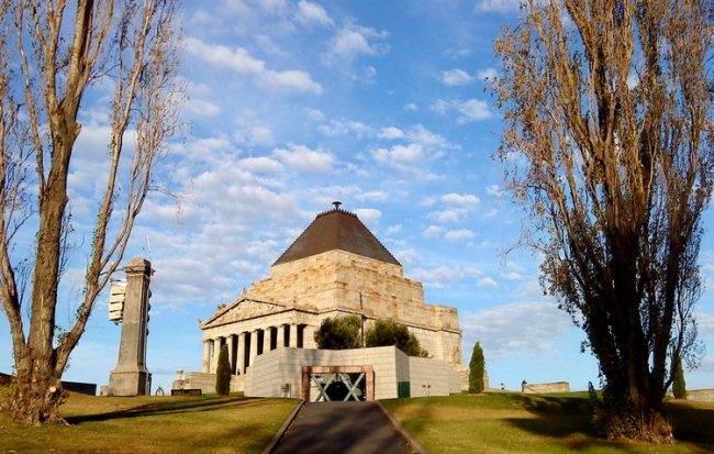 shrine of remembrance war memorial Melbourne Australia
