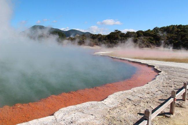 waiotapu geothermal zone rotorua new zealand