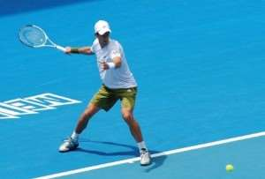Novak Djokovic at Australian Open tennis events on Melbourne escorted tours Distant Journeys