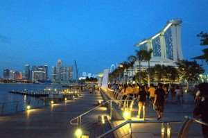 Marina Bay in Singapore Asian city stopover Australia and New Zealand tours Distant Journeys