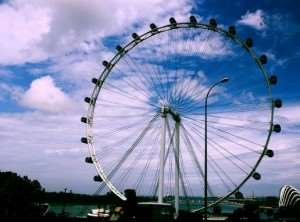 Singapore Flyer observation wheel Asian city stopover Australia and New Zealand tours Distant Journeys