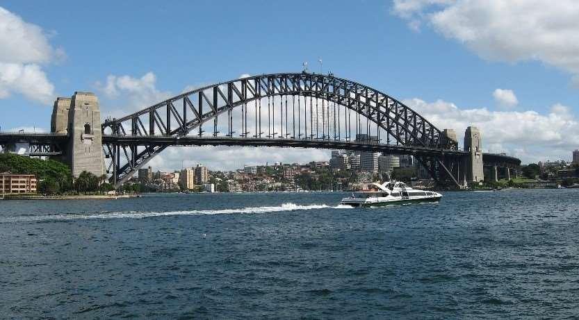 Sydney Harbour Bridge, one of the landmarks visited on our Sydney harbour tours