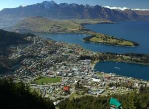 Aerial shot of Queenstown, New Zealand – Distant Journeys Tours