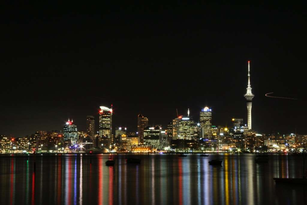 View of Auckland sky line, with Sky Tower looking prominent