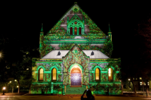 Light installation at the Adelaide Festival - visit on an Australia sightseeing holiday tour