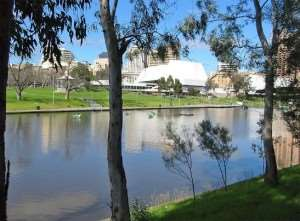 Open park space in Adelaide - visit on an Australia sightseeing holiday tour