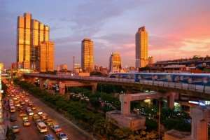 Skytrain in Bangkok - visit Thailand with Distant Journeys