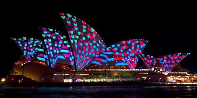 Vivid Sydney, light display event on our Australia escorted tours 2016