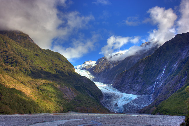 Fran Josef Glacier landscape South Island New Zealand