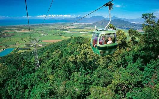 Skyrail Rainforest Cableway from Kuranda to Cairns on Distant Journeys Australia escorted tours