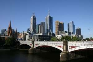 Melbourne skyline, which can be visited on Distant Journeys tours to Australia and New Zealand