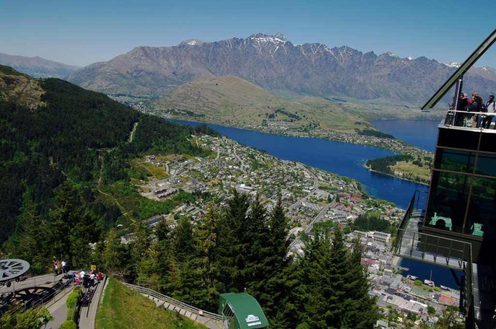 Top of Bob's Peak and viewing platform, can be visited on Distant Journeys New Zealand holidays
