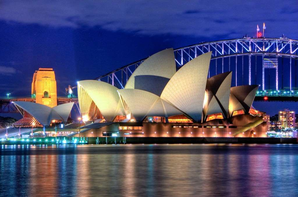 A picture of the Sydney Opera House.
