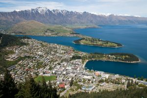 aeriel view of Queenstown New Zealand