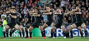 2011 New Zealand World Cup team doing the haka in game vs Argentina