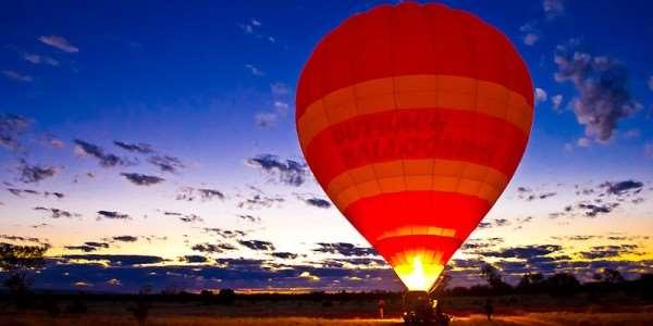 Balloon Ride over Australia Outback