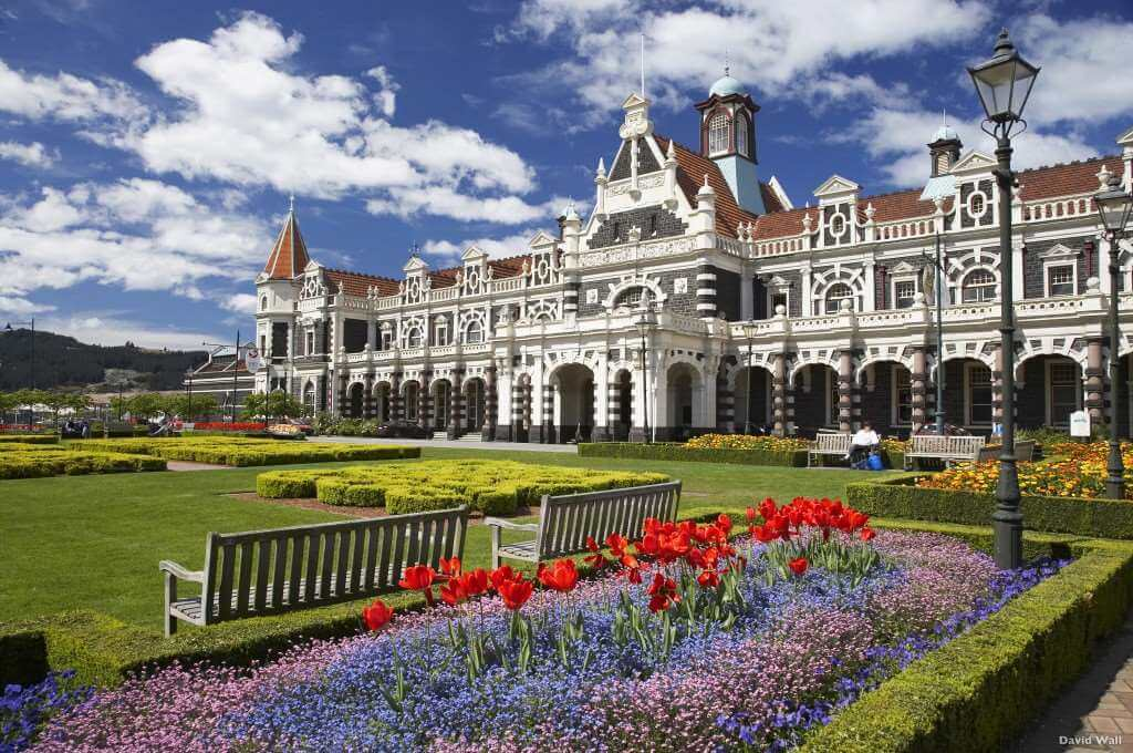 Historic Railway Station, Dunedin, South Island, New Zealand