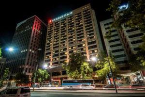 ADL Stamford Plaza Exterior Night
