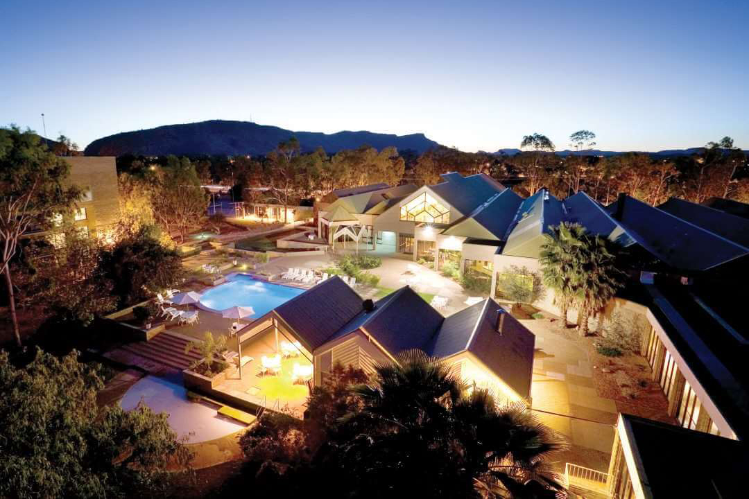 Alice Springs DoubleTree by Hilton at dusk