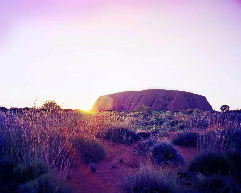 Uluru sun shot