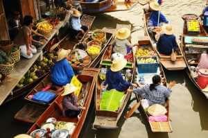 Floating market, Amphawa, Thailand