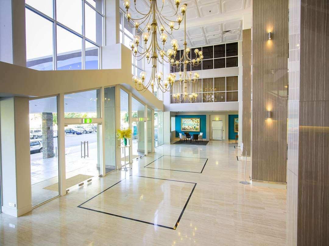 Pacific International Hotel lobby