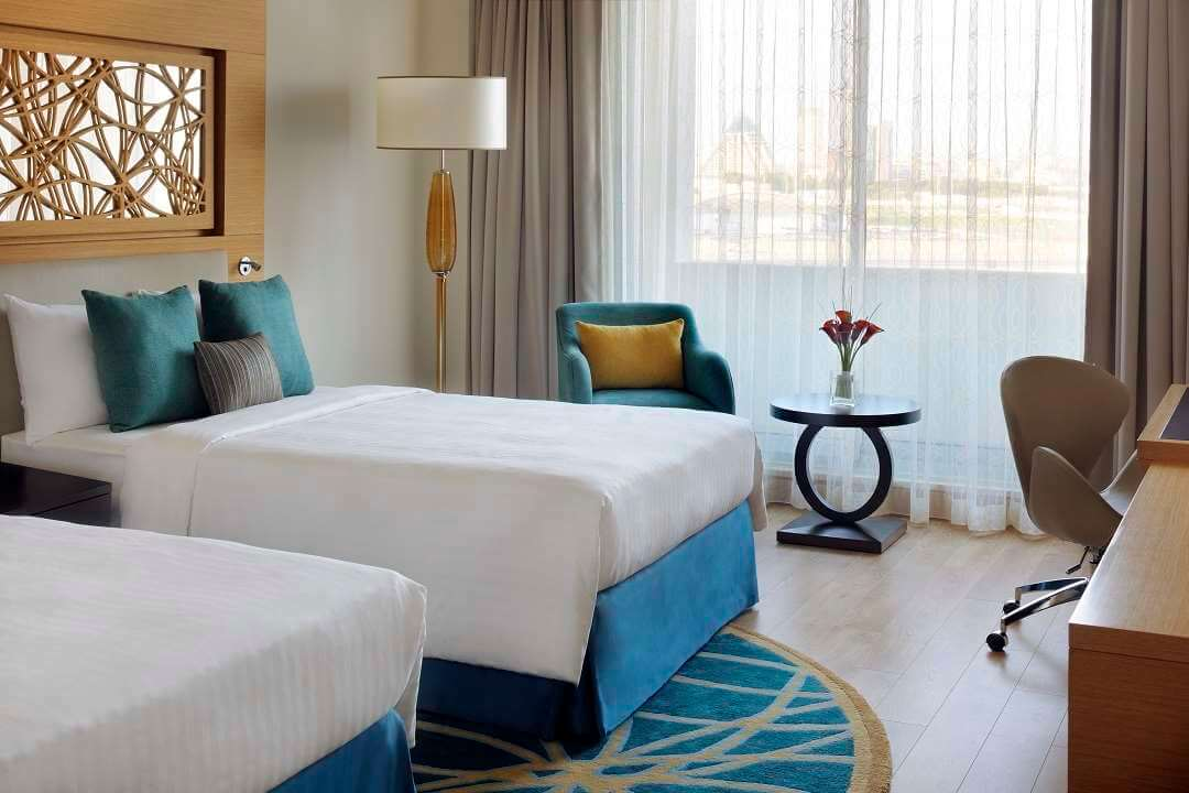 Marriott al Jaddaf Dubai twin room