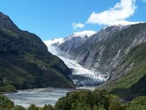 Franz Josef glacier scenic view