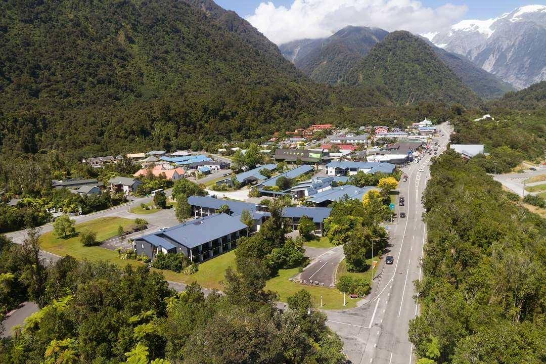 Scenic Hotel Franz Josef by air