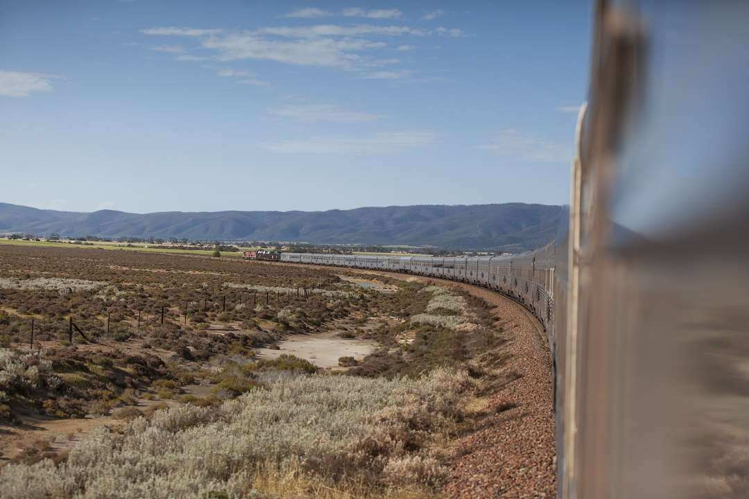 The Ghan on bend