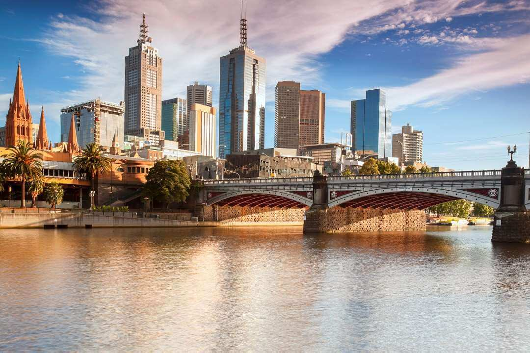 Melbourne from river