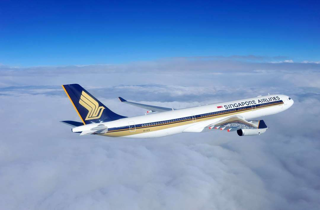 Singapore Airlines in sky