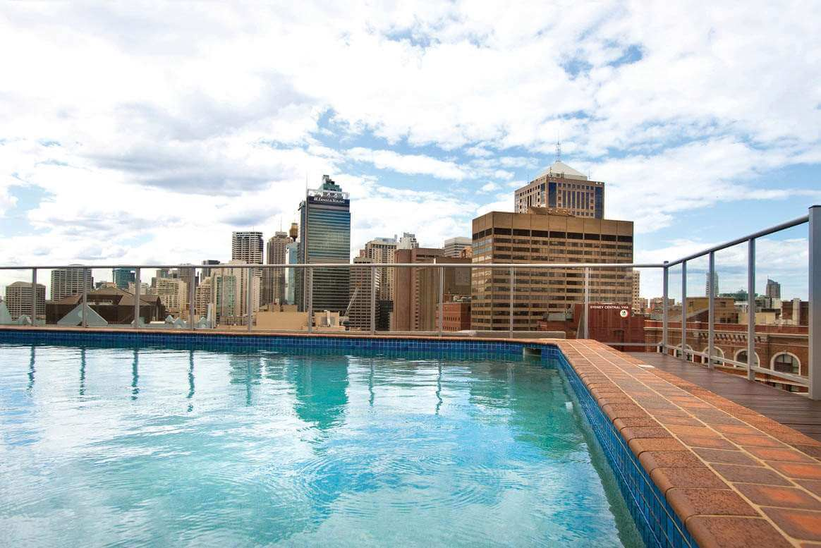 Rendezvous Sydney Central rooftop pool