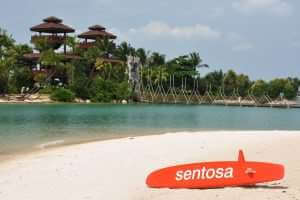 Southernmost point of continental Asia, Sentosa island, Singapore