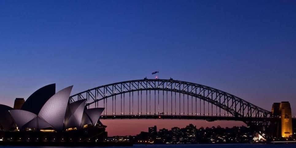 SYD Bridge Sunset
