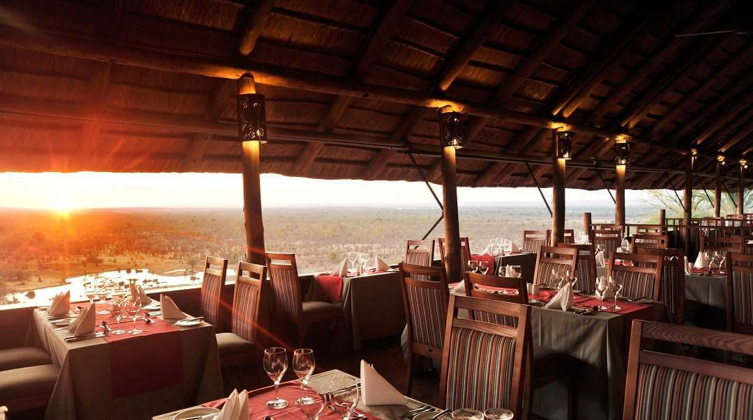 Victoria Falls Safari Lodge restaurant