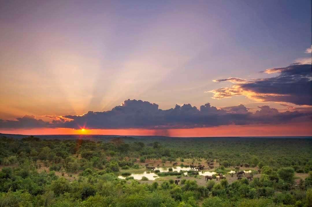 Victoria Falls Safari Lodge sunset