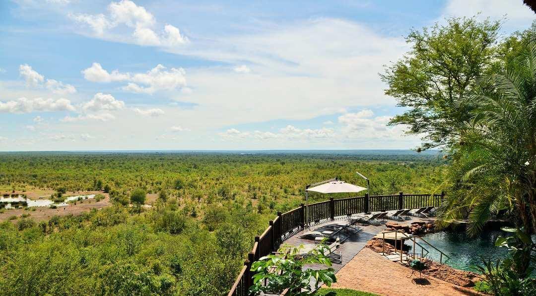 Victoria Falls Safari Lodge swimming pool