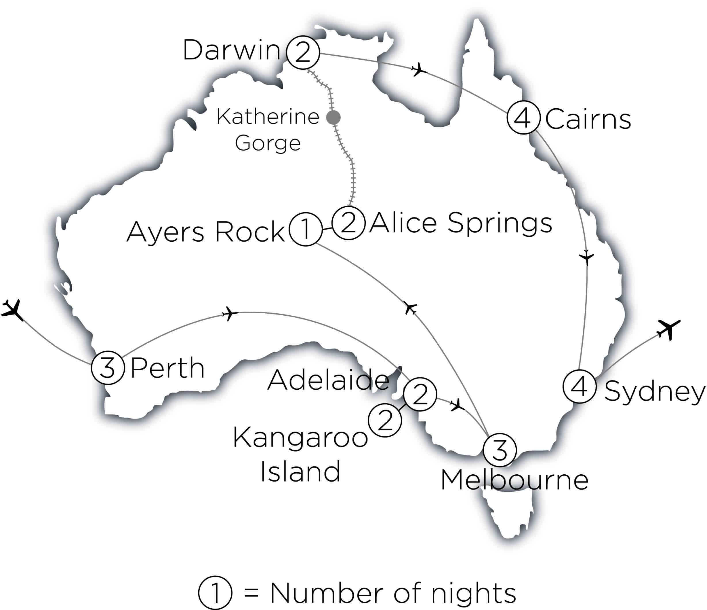 Very Best of Australia MAP