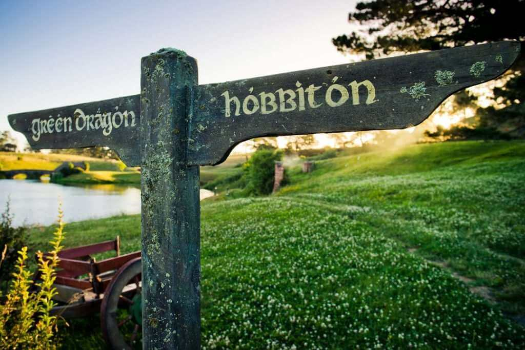Hobbiton sign NZ
