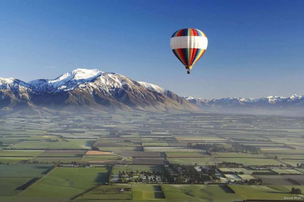 new zealand baloon flight canterbury plains