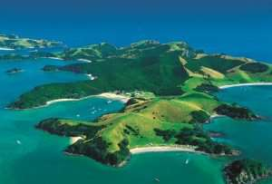 bay of island from the air - New Zealand