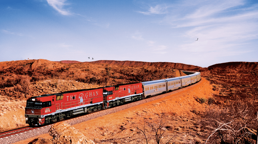 the ghan train in australia
