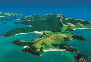 aerial view bay of islands new zealand