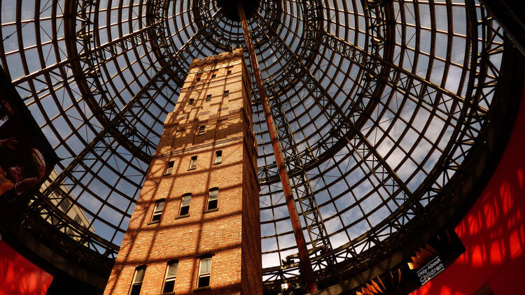 melbourne central shopping cone roof